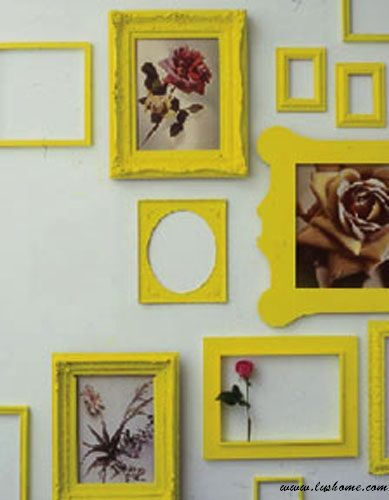 Baroque frames painted in neon colours.   SHOP HERE: http://pinataad.bigcartel.com/category/custom-frames