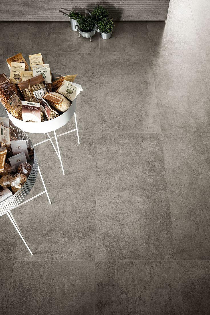 Brooklyn - concrete floor tiles #Marazzi #ModenaFliser