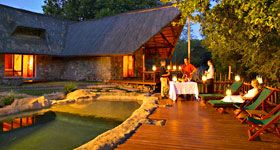 Set in 9,000 hectares of pristine African bush in the Karongwe Private Game Reserve in Limpopo, Kuname River Lodge is just 45 minutes' drive from the world-famous Kruger National Park.