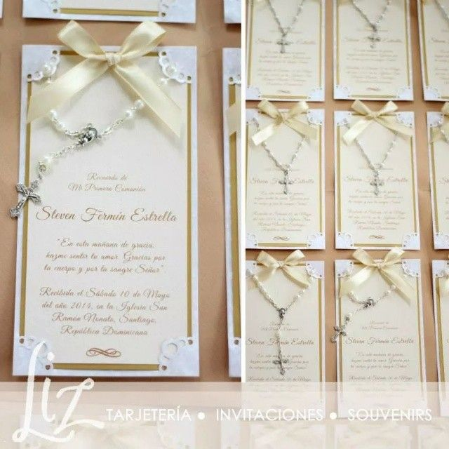 Tarjetas-Souvenirs para Primera Comunión / recuerdos / tarjetería / decenarios / hecho a mano / handmade / cards / First Communion / invitaciones / creativity / paper creations / papers