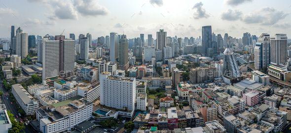 Bangkok City Panorama Nana And Sukhumvit Road Aerial Photography Panorama City Aerial Photography Bangkok City