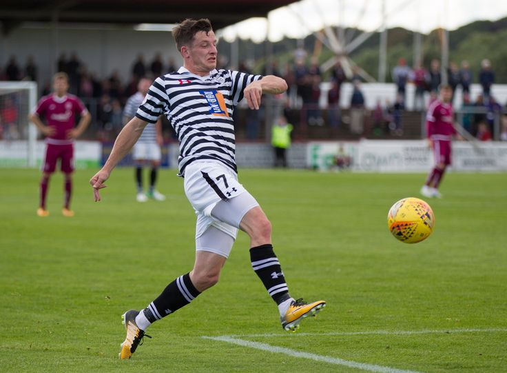Queen's Park's David Galt in action during the SPFL League One game between Arbroath and Queen's Park