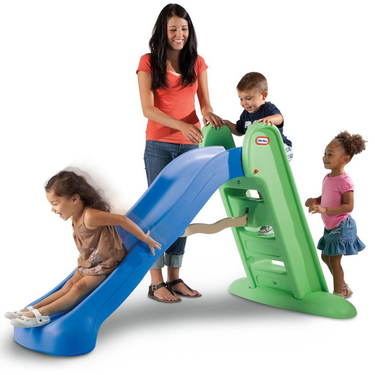 Little Tikes Easy Store Large Slide Backyard Playground ...