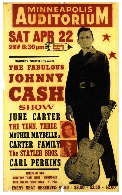 vintage Johnny Cash concert poster