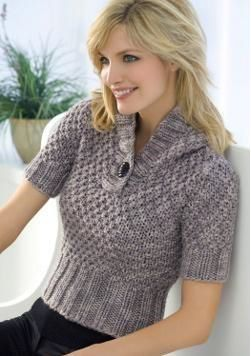 A short-sleeve sweater may be a nice transition piece because the months heat…