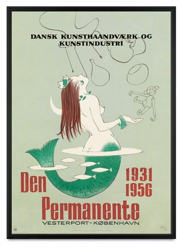 Poster from famous Danish design shop anno 1956 - Denmark
