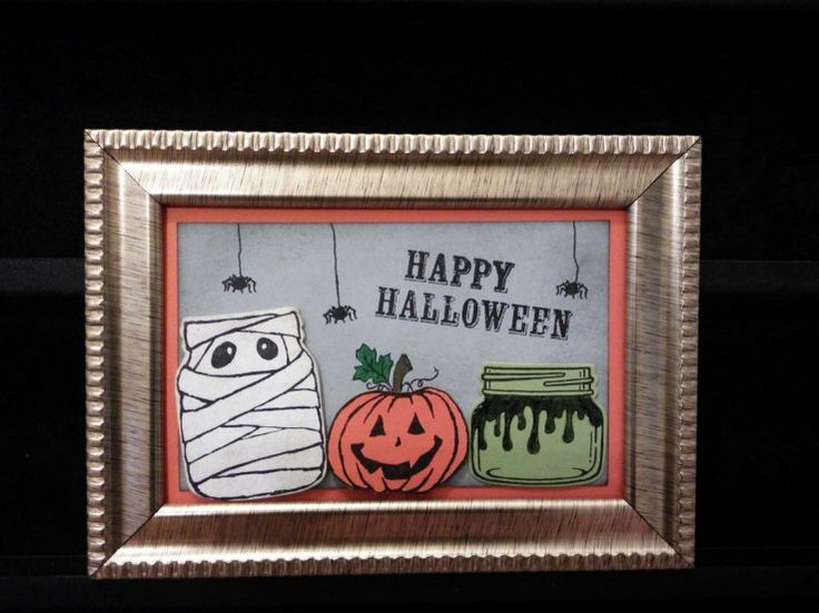 Jar Of Haunts Halloween Frame