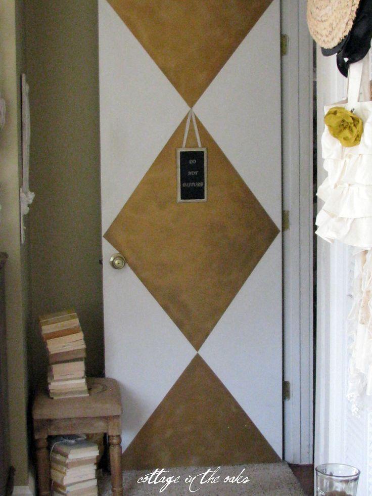 painted harlequin door #diy