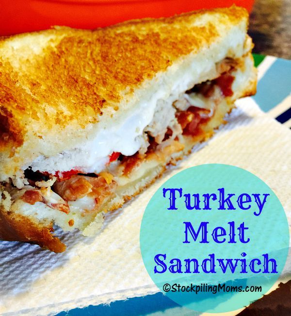 Turkey Melt Sandwich recipe is so easy to make in as little as 10 minutes!