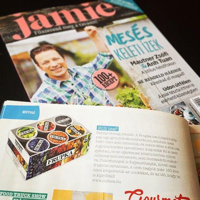 """""""A cseh nagyik már 150 éve ezzel kényeztetik az unokákat, itt az idő, hogy te is kipróbáld!"""" Köszönjük a magyar Jamie Magazinnak! :$ #frupka #sülttea #sulttea #jamiemagazine #sajtó"""