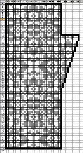 Fair Isle knitting chart - an all over pattern that could be done in cross stitch.