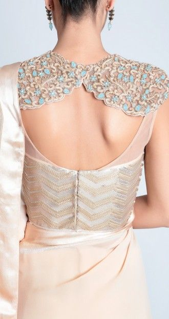 Sari with embroidered corset - blouse design