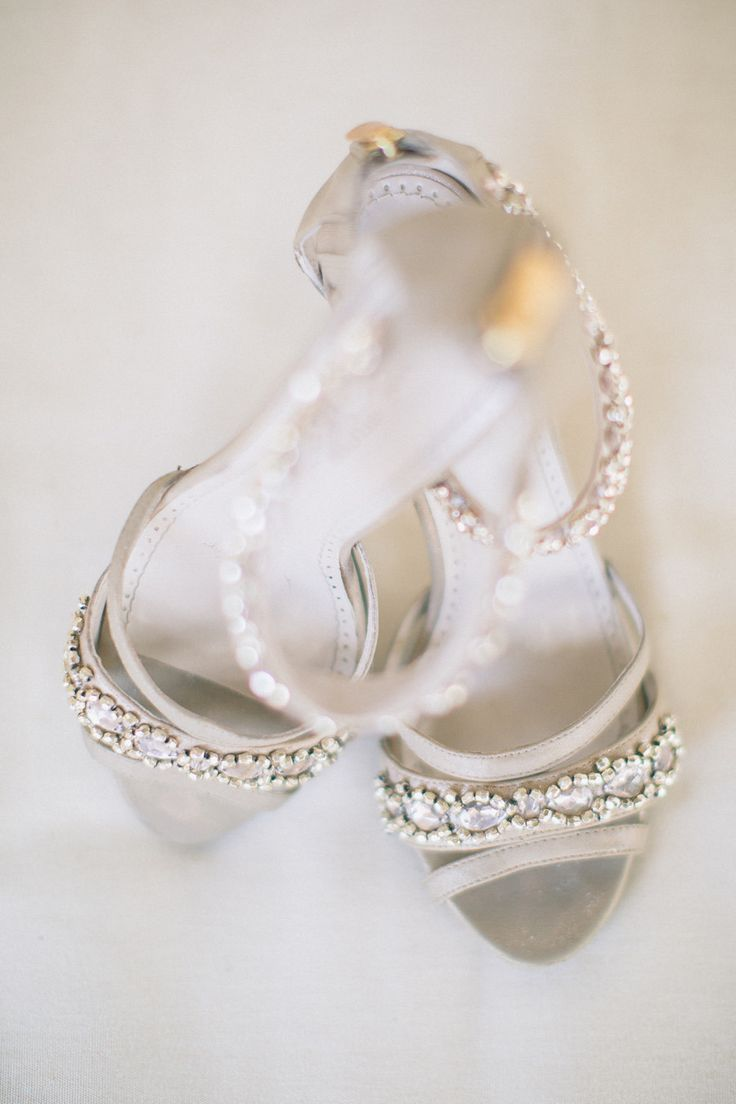Sparkly Adrienne Vittandini pumps | Nocatee, Florida Wedding from J. Layne Photography Wedding Shoes // Aisle Perfect