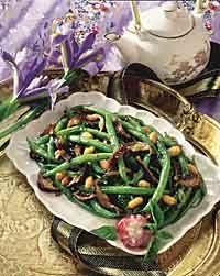 Green Beans and Shiitake Mushrooms Photo