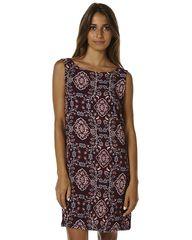TIGERLILY ARBANASI WOMENS SHIFT DRESS - BERRY