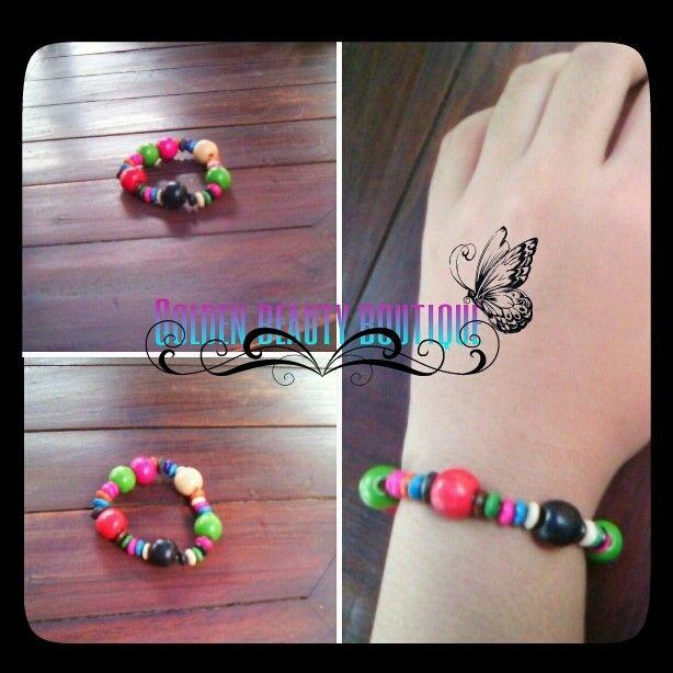 Rp.5000/pcs $1/2pcs wooden colourfull balls bracelet