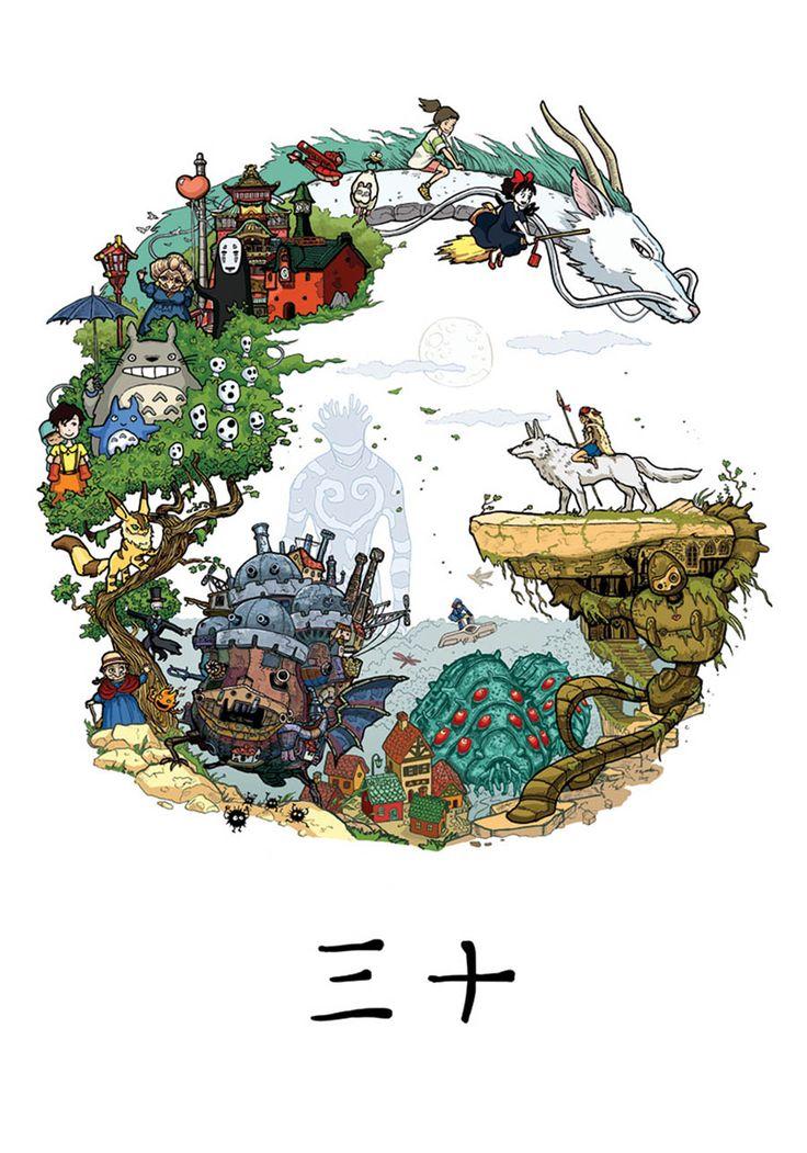 40 Ilustraciones para celebrar el cumpleaños 75 de Hayao Miyazaki | FuriaMag | Arts Magazine