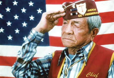 """Armando """"Chief"""" Trujillo (deceased) served his country from 1941-1946 in the U.S. Army. He was a prisoner of war during the Bataan Death March in the Philippines during WWII and suffered beatings and malnutrition at the hands of the enemy. A 5'9"""", 180-lb soldier returned to his home in Pueblo weighing approximately 87 lbs."""