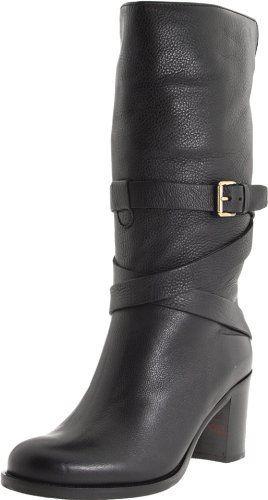 €254, Bottes mi-mollet en cuir noires La Canadienne. De Amazon.com. Cliquez ici pour plus d'informations: https://lookastic.com/women/shop_items/122554/redirect