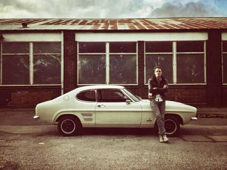 With the Capri at the Ford Factory in Dagenham.