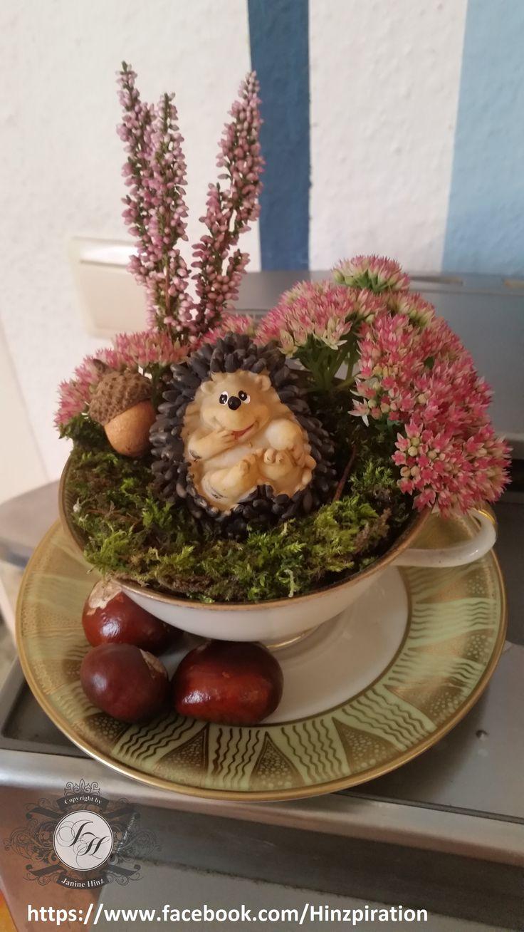 Herbstdeko 2014 - Der Igel und der Hase, der Hase ist noch unterwegs. ;-)