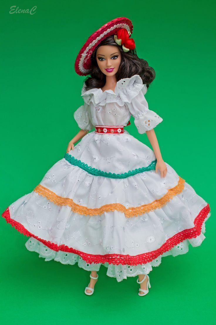 huipil para barbies | Oltre 1000 idee su Messico Moda su Pinterest | Gioielli Messicano ...