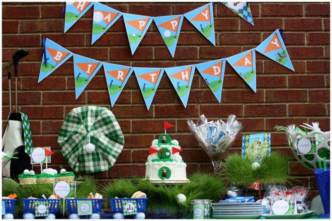 : Golf Themed, Birthday Parties, Golf Party, Party Theme, Golf Birthday, Party Ideas, Birthday Ideas, Birthday Party