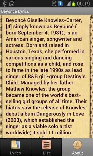 Latest Beyonce Song LYRICS   beyonce songs lyrics completely offline and free beyoncelyrics guide ...