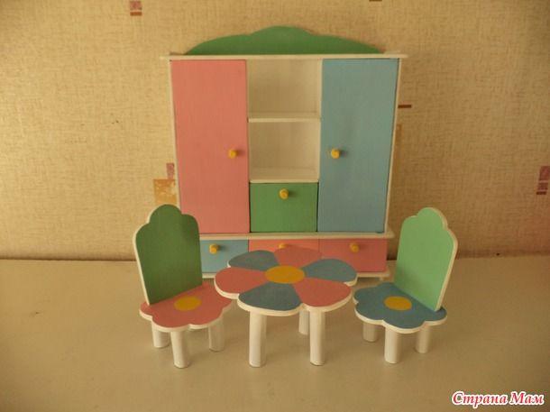 Моё увлечение - игрушки из фанеры, или кукольная мебель своими руками.