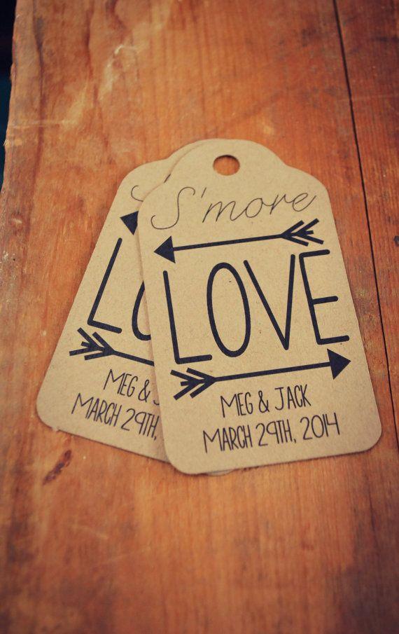 Se More Love mariage faveurs petite balise par thepaperstash
