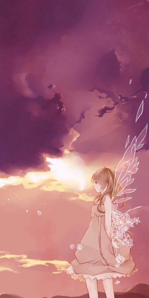 Anime angel. More #anime girl #angel www.freecomputerdesktopwallpaper.com/Shining_Angel-Fantasy_freecomputerdesktopwallpaper.shtml