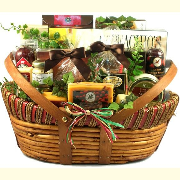 """#Dad's Favorites, #Gift #Basket for #Dad  This #best seller is now available in an even larger size! It starts with a #larger #version of the same   #basket with some #delicious #extras. Tucked inside, dad will find:      #Gourmet Focaccia Crisp Crackers     #Cranberry Cheddar gourmet Cheese     #Wisconsin Swiss Cheese     #Wisconsin Cheddar Cheese     #A jar of delicious Green Olive and Pimento Cheese Dip     #Jumbo Cashews and Peanuts     #""""Nik Naks"""" Cocktail Mix     #Assorted Dipping…"""