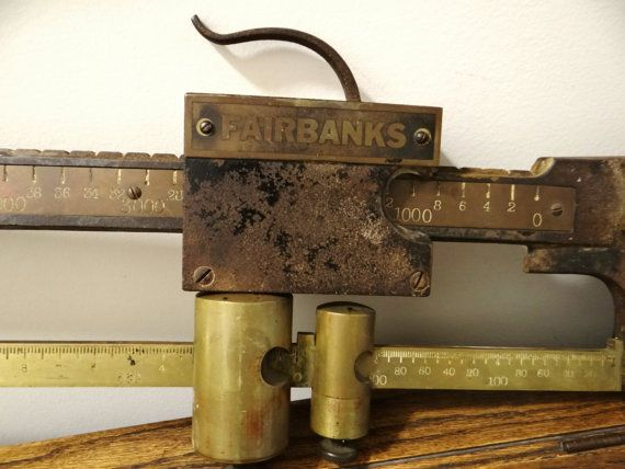 antique Fairbanks Scale Beam scale truck scale by thewildburro, $245.00