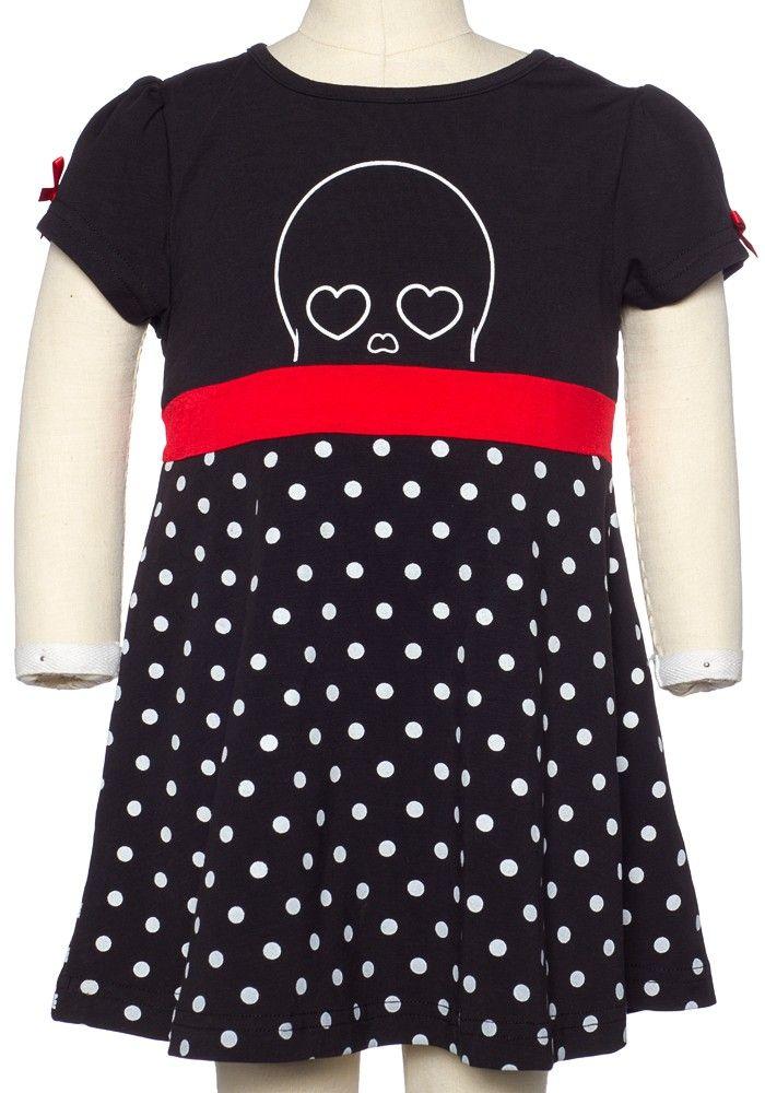 Kids black skull dress