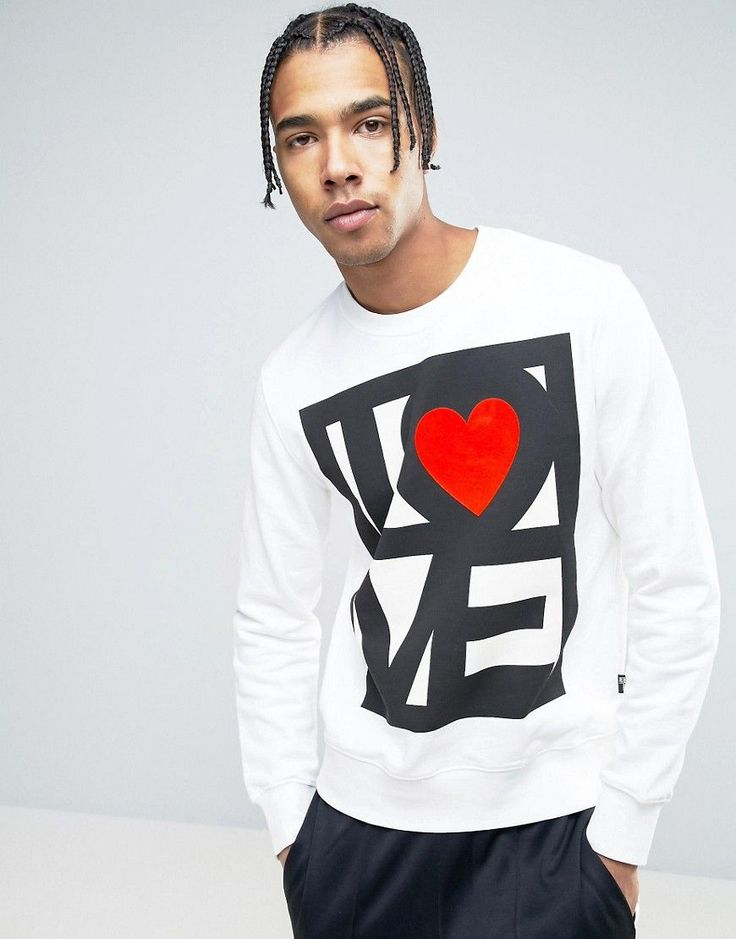 Get this Love Moschino's hooded sweatshirt now! Click for more details. Worldwide shipping. Love Moschino Stamp Logo Sweater - White: Sweatshirt by Love Moschino, Soft-touch sweat, Crew neck, Logo design, Fitted trims, Regular fit - true to size, Machine wash, 100% Cotton, Our model wears a size Medium and is 188cm/6'2 tall. Franco Moschino grew up in a small town outside of Milan, counteracting his provincial boredom with drawing. Encouraged to take up design by Gianni Versace, Moschino…