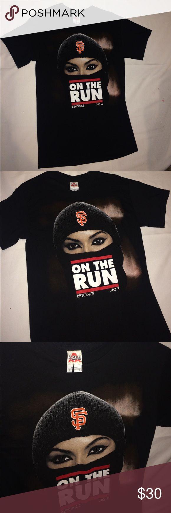 Jay z Beyoncé tshirt on the run tour small Brand new San Francisco stop of tour concert Tops Tees - Short Sleeve