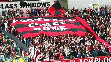 Football comes home. Western Sydney Wanderers