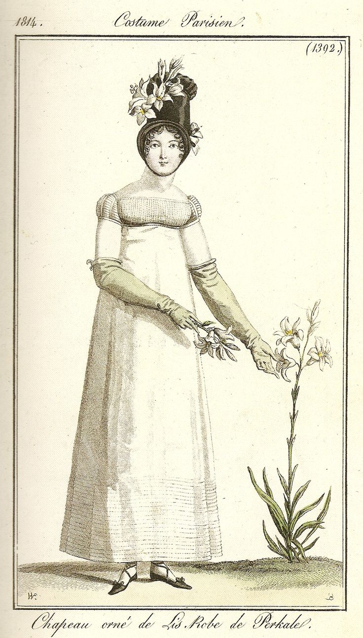 A horticultural interest in lilies. Costume parisien, 1814