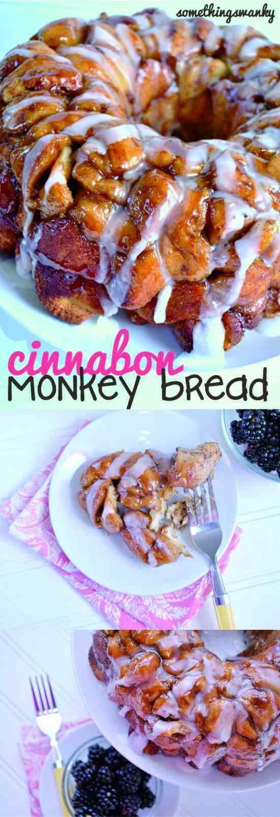 Easy Cinnabon Monkey Bread