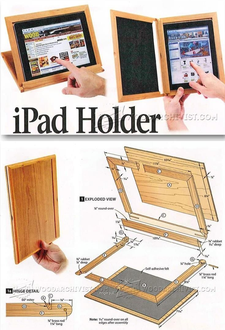 DIY Tablet Holder - Woodworking Plans and Projects | WoodArchivist.com