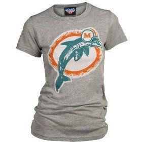 NFL Miami Dolphins Women's Vintage Short Sleeve T-Shirt (Steel Heather)