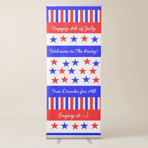 Stars and Stripes Pattern American #4thofJuly or Your Event, custom #banner