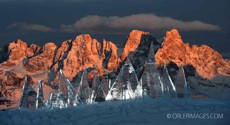 Ice Skyline Dolomiti Trentino Unesco by Marco NONES - photo Pierluigi ORLER - Art installation - RespirArt