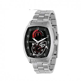 FOSSIL Men Automatic Black Dial Stainless Steel Bracelet ME1032