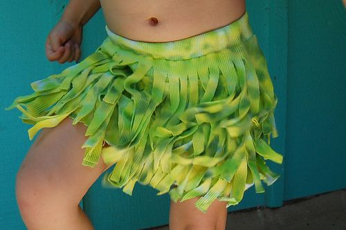 how to make hula skirt t shirt