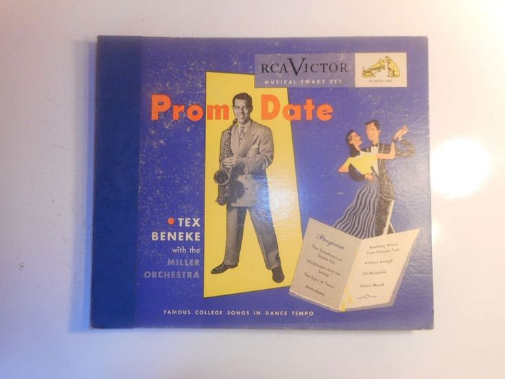 Tex Beneke & The Miller Orchestra Prom Date 78 RPM Record Set P183 College Songs #BigBandSwing