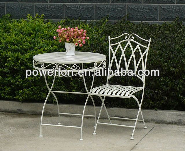Garden Furniture East Bay east bay conisgnment 8 pc white wrought iron patio set with