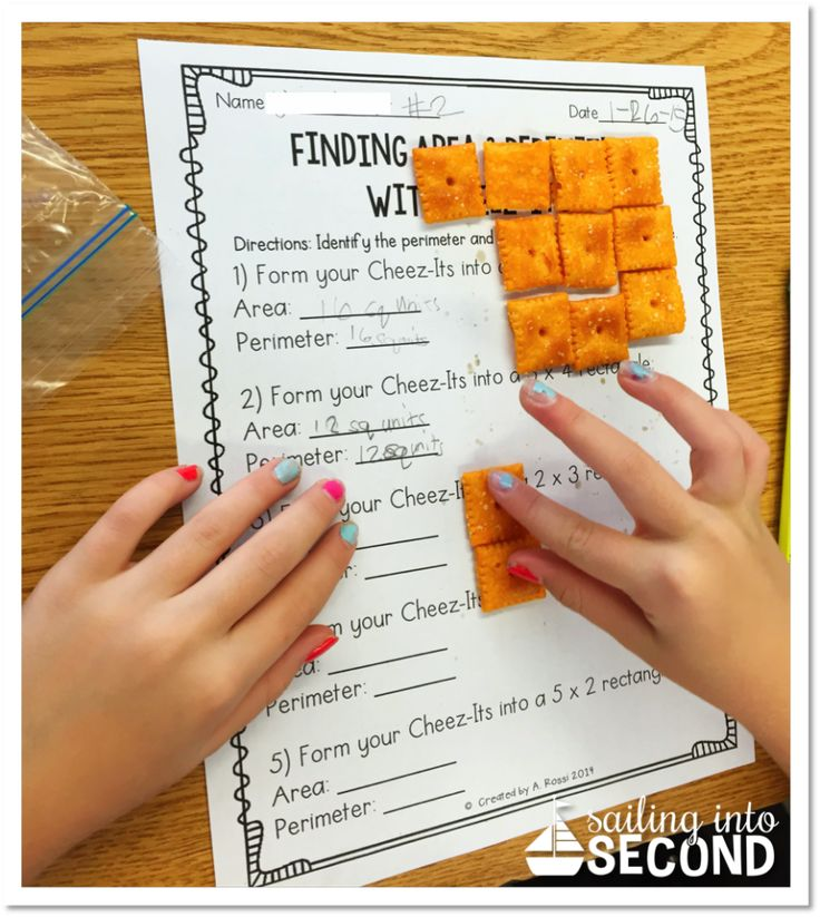 Free area and perimeter activity with Cheez-Its!