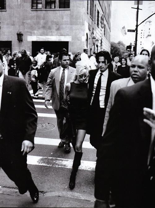 """Pam & The Man"", Harper's Bazaar US, December 1995, Pamela & Tommy Lee by Peter Lindbergh"