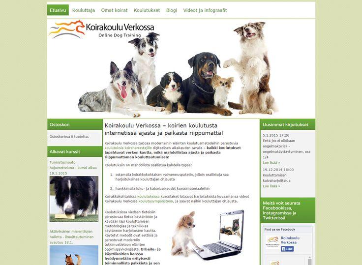 Joulukuussa kotisivukilpailun voittajaksi valittiin Koirakoulu Verkossa -palvelun kotisivut. Koirakoulu Verkossa tarjoaa koulutuksia koiraharrastajille verkon kautta. Kotisivuilla on runsaasti sisältöä ja sen jäsentelyyn on käytetty monipuolisesti Kotisivukoneen ominaisuuksia. Blogista löytyy kirjoituksia ja videoita koirankoulutukseen liittyen ja verkkokauppaominaisuutta on käytetty kurssitarjonnan esilletuomiseen.